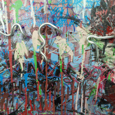 Met Splatters – Mixed Media – Oil, Spray Paint, Paint Marker, Aluminum on Canvas