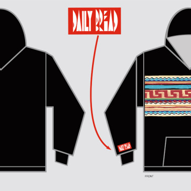 Daily Bread Aztec Hoodie – Created in Illustrator