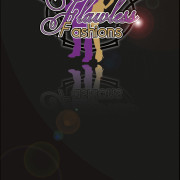 Flawless Fashions Co-Owner Business Card Front – Created in Photoshop