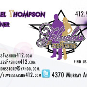 Flawless Fashions Owner Business Card Back – Created in Photoshop
