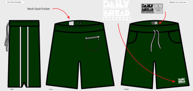Daily Bread Gym Shorts – Created in Illustrator – Logo provided by Daily Bread
