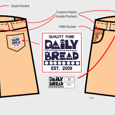 Daily Bread Khaki Shorts – Created in Illustrator – Logo provided by Daily Bread