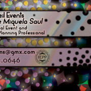 Non Pareil Events Owner Business Card Back – Created in Photoshop