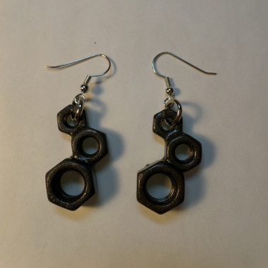 Dyslexia Earrings – Metallic Black – 3 Count