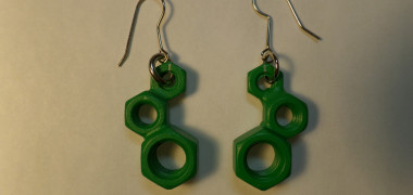 Dystopia Earrings – Hunter Green – 3 Count