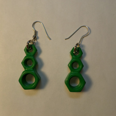 Utopia Earrings – Forest Green – 3 Count