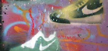 Nike's in Space – Spray Paint on Canvas